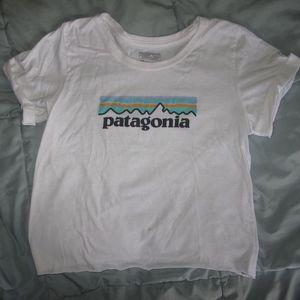 Patagonia T Shirt Cut Off Hem & Sleeves Kids XXL